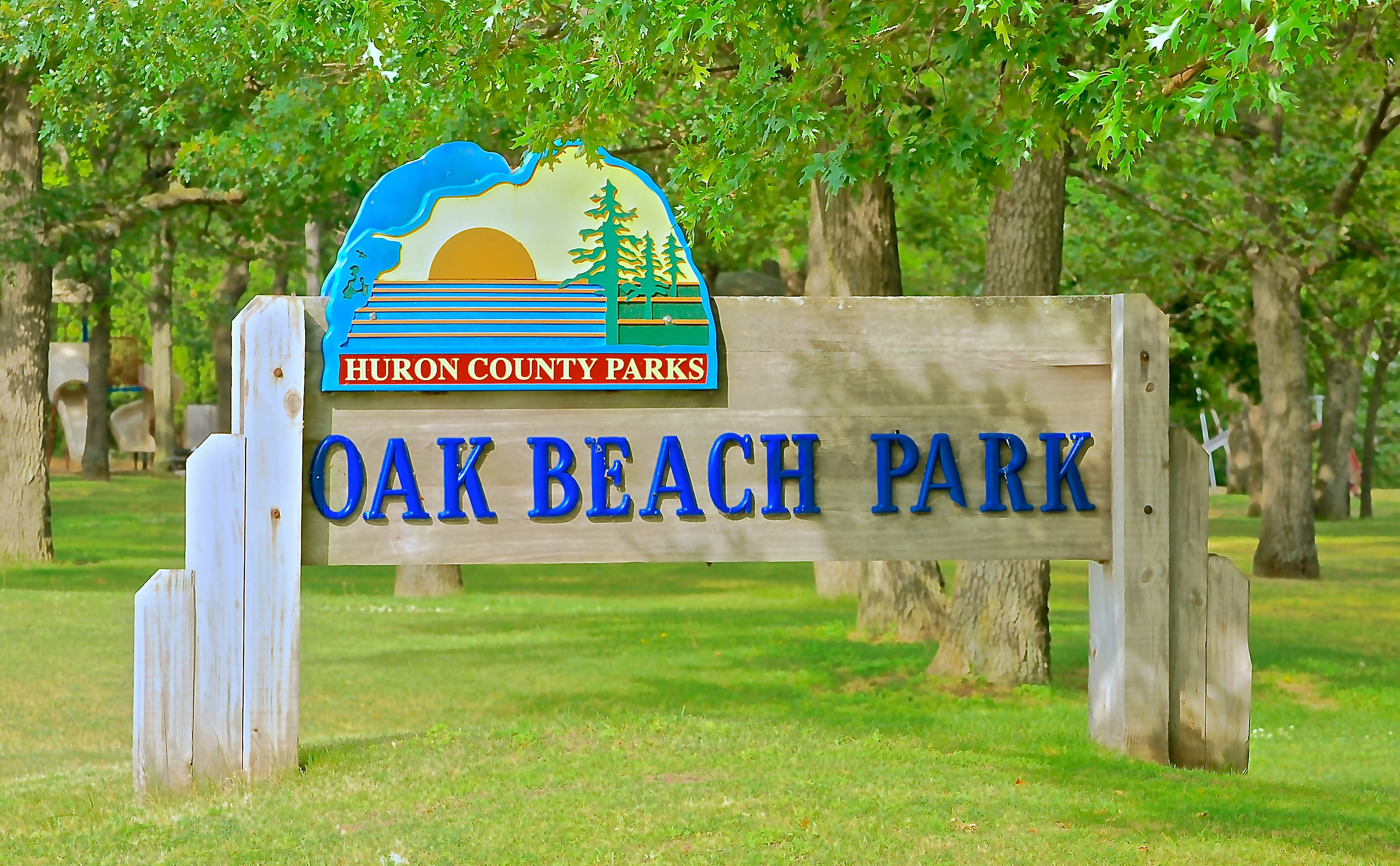 Oak Beach Sign