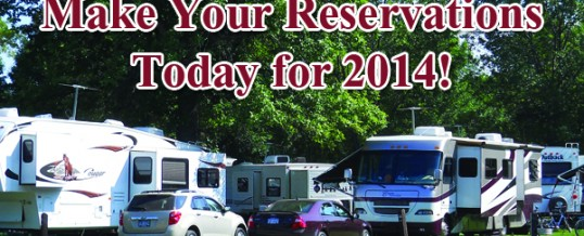 Reservations for 2014 Camping Season Open to Public